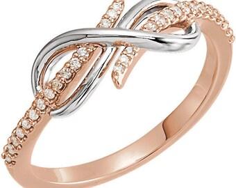 Beautiful Custom 1/8 CTW Diamond Infinity Ring