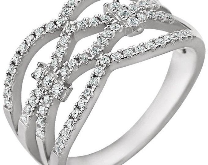 Gorgeous 14 karat White Gold 3/8 CTW Diamond Ring