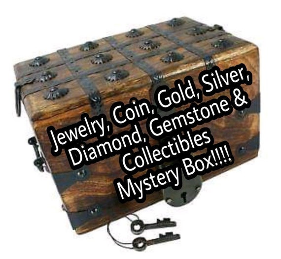 Mystery Box Jewelry Coins Gold Silver Diamonds Gemstones Etsy