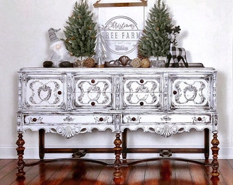 White furniture shabby chic Ebay White Buffet Server French Provincial Furniture Dining Room Cabinet Storage Cabinet Vintage Buffet Credenza Shabby Chic Farmhouse Trespasaloncom Shabby Chic Furniture Etsy
