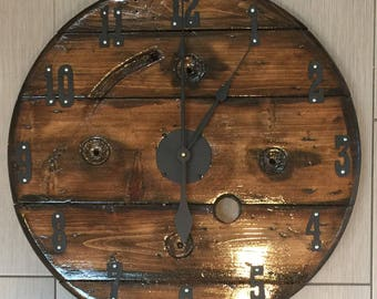 Sold Farmhouse Rustic Wood Clock. Living Room , Dining Room , Den, Family  Room . Solid Wo