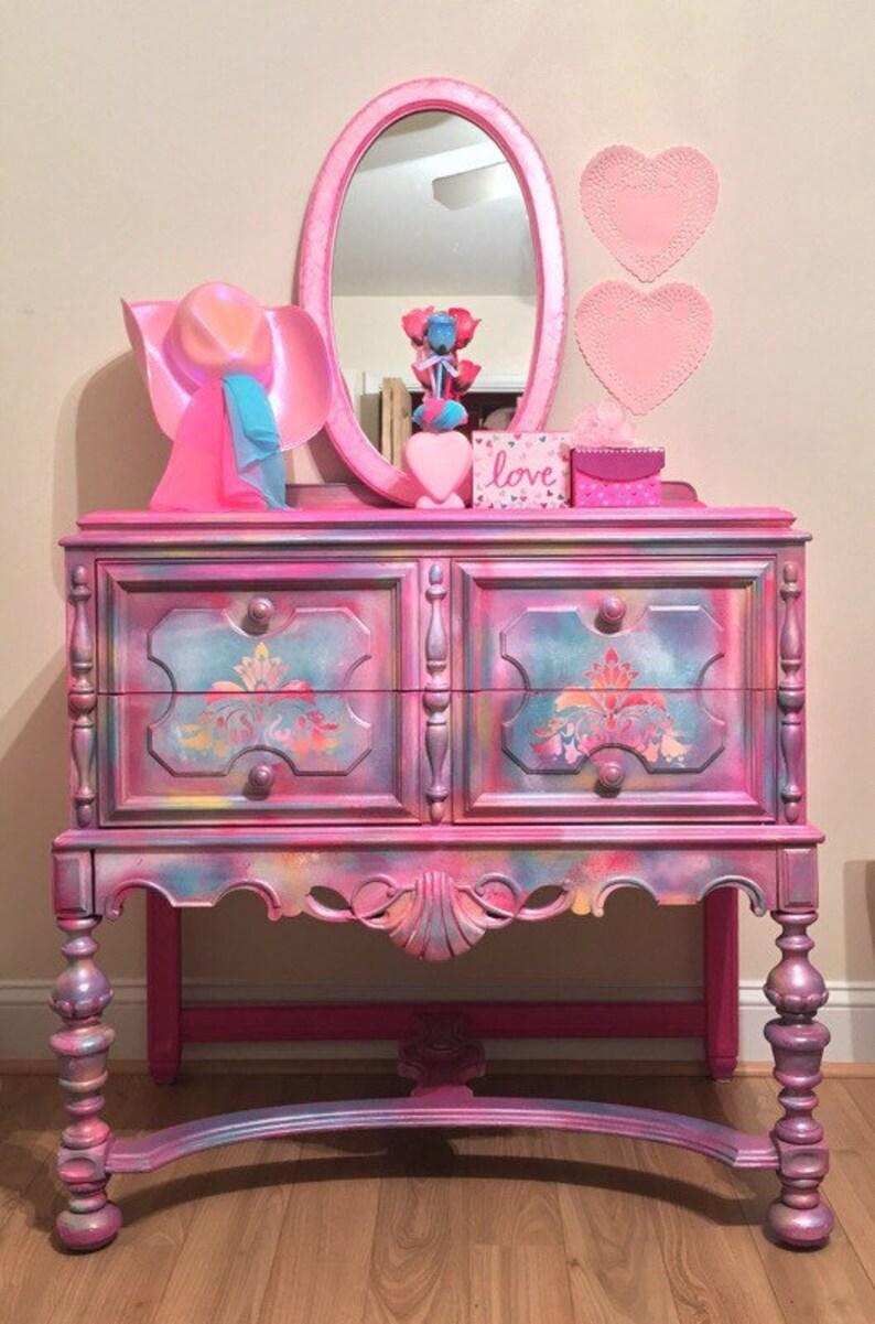 ffa5860f9 Sold Girls pink dresser lavender color pink chest of