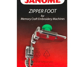 INVISIBLE CONCEALED ZIPPER FOOT for Janome High Shank DB Hook Models 767410016
