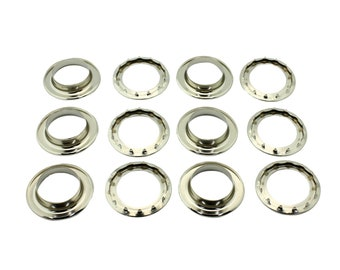 """Osborne 12 Sets Nickel Plated Grommets /& Spur Washers #N2-4 C.S 9//16/"""" Hole"""