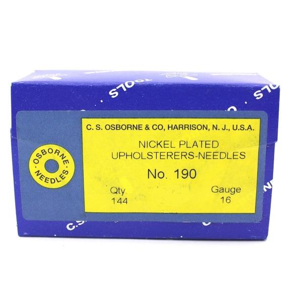 "Osborne Pack Of 12 Bent Pack Needles #508 C.S Size 3/"" Upholsterers Needle"