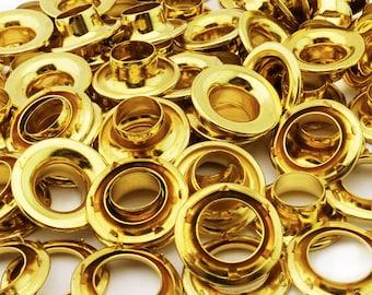 C.S. Osborne Brass Grommets & Spur Washers #G2-6 (Size 6) 144 Sets