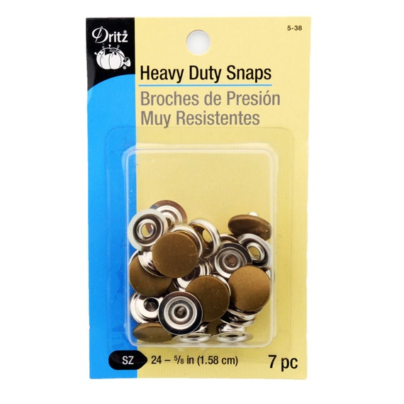 Dritz Heavy Duty Snap Fasteners-Antique Silver 6 Count Size 24-5//8 inch