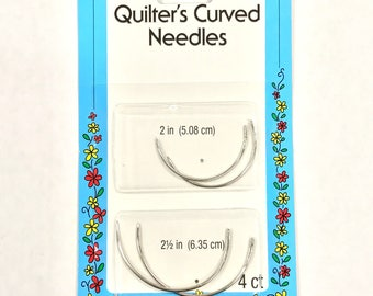 Collins Quilter's Curved Needles, 2 Inch & 2-1/2 Inch - 4 Needles #C326