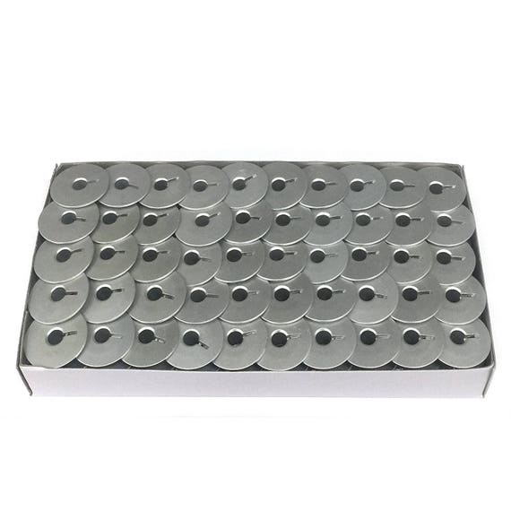 100 Aluminum Bobbins With Slot Fit For Handi Quilter HQ Sixteen Quilting Machine