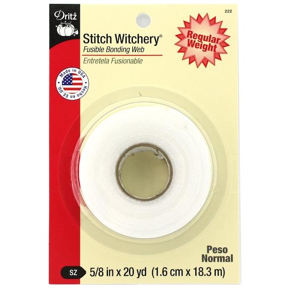".625/""X20yd 2//Pkg Dritz Stitch Witchery Fusible Bonding Web Regular Weight"