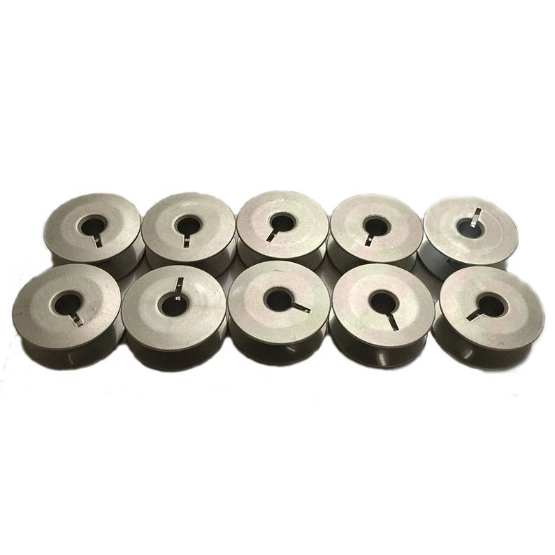 Cutex Brand 10 Aluminum Slotted M Bobbins for Tin Lizzie Ansley Gammill Quilting Machine