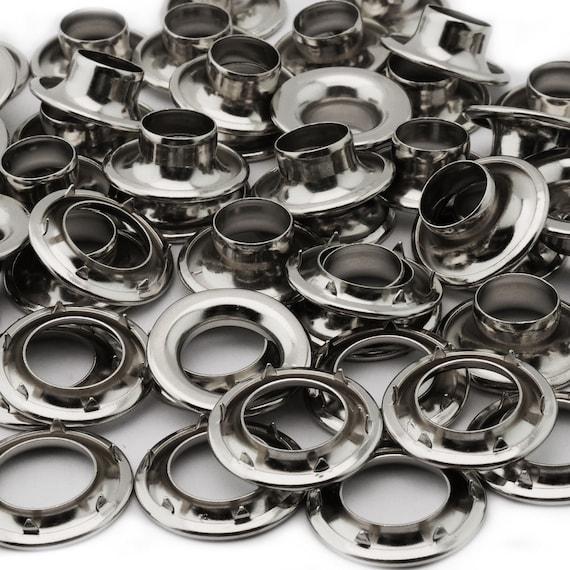 13152 size 4. 12 QTY-Osborne-No N2-4-NICKEL Grommets /& Spur Washers