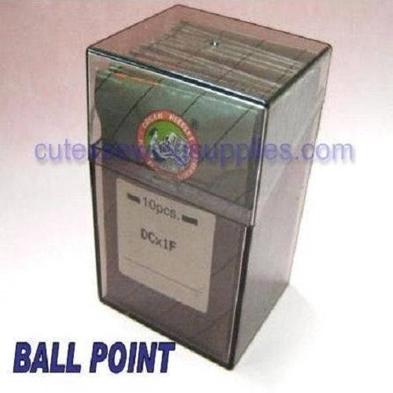 30 Organ DCX27 B-27 Ball-Point Titanium Industrial Overlock Serger Needles