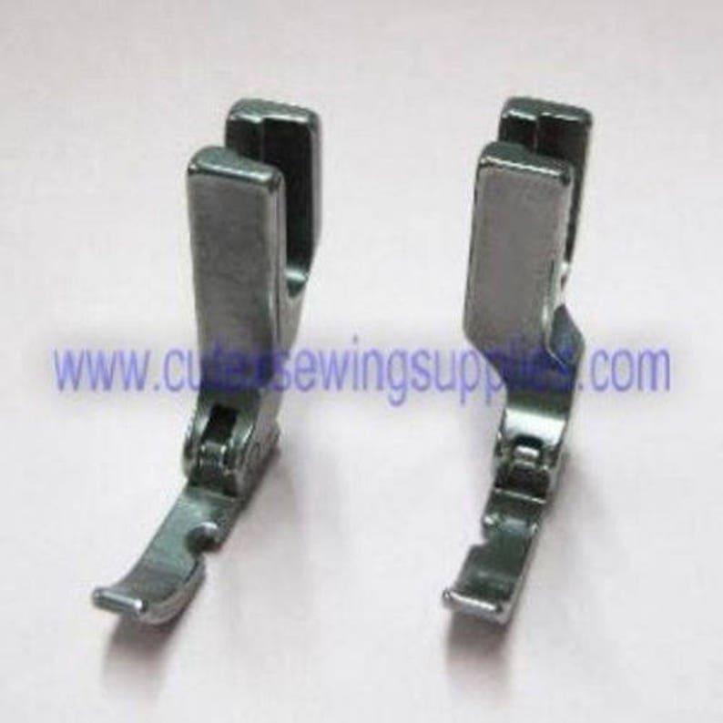 High Shank 12435HN,31358HN Narrow Right /& Left Hinged Zipper Foot Single Needle