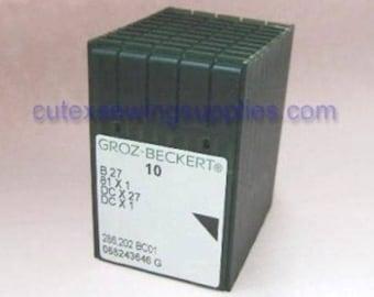 100 Groz-Beckert B27 DCX27 Ball Point Overlock Sewing Machine Needles