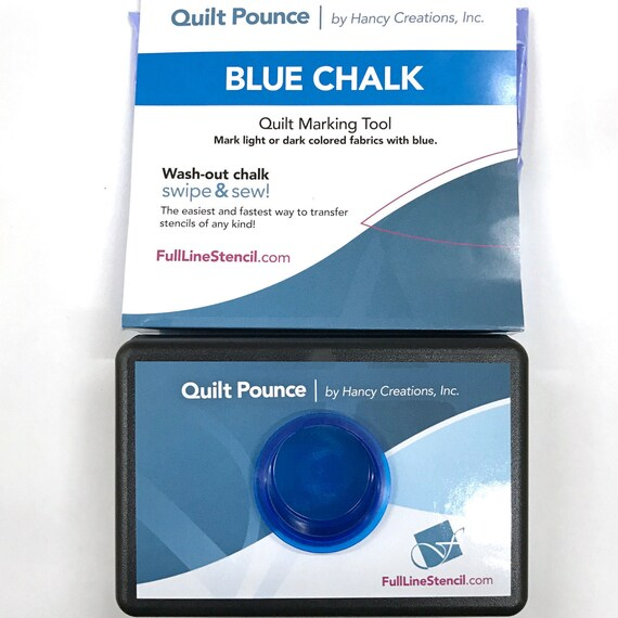 Quilt Pounce Pad With Wash Out Blue Chalk Powder 2 Oz Bag Etsy