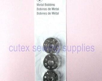 Singer 221 Featherweight , 221K, 222 & 301 Sewing Machine Bobbins - 3 Pack