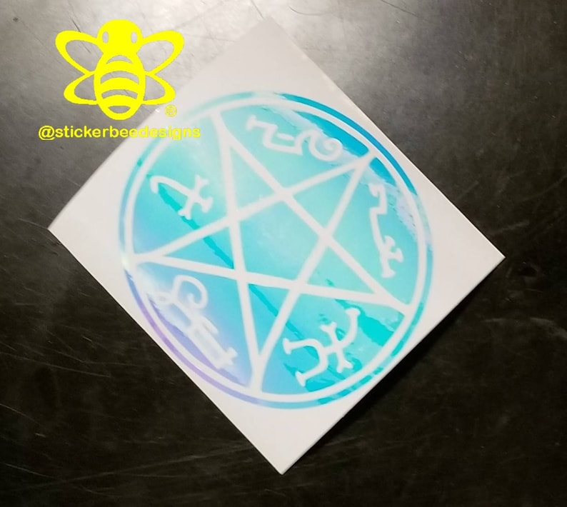 Supernatural inspired demon trap specialty vinyl decal (3 inches), Spn  journal sticker, Supernatural laptop decal