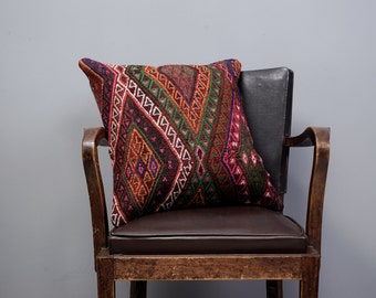 Paypal, Turkish kilim pillow, Decorative pillow, Vintage home decor, Cushion cover, Boho pillow, Kilim rug pillow, 20x20 inches, 50x50 cm