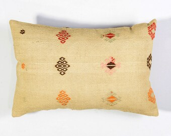 PAYPAL, 16x24 inches, 40x60 cm, Turkish kilim pillow, Decorative pillow, Vintage home decor, Cushion cover, Boho pillow, Kilim rug pillow