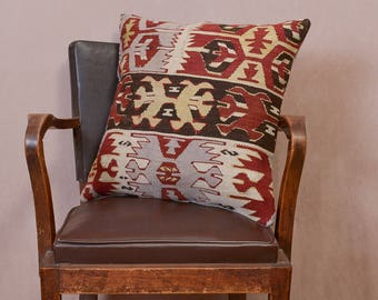 Paypal, Turkish kilim pillow, Decorative pillow, Vintage home decor, Cushion cover,Area pillow, Boho pillow, Kilim rug, 20x20 inches, 50x50