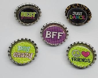 BFF Bottle Cap Magnets - 5pc