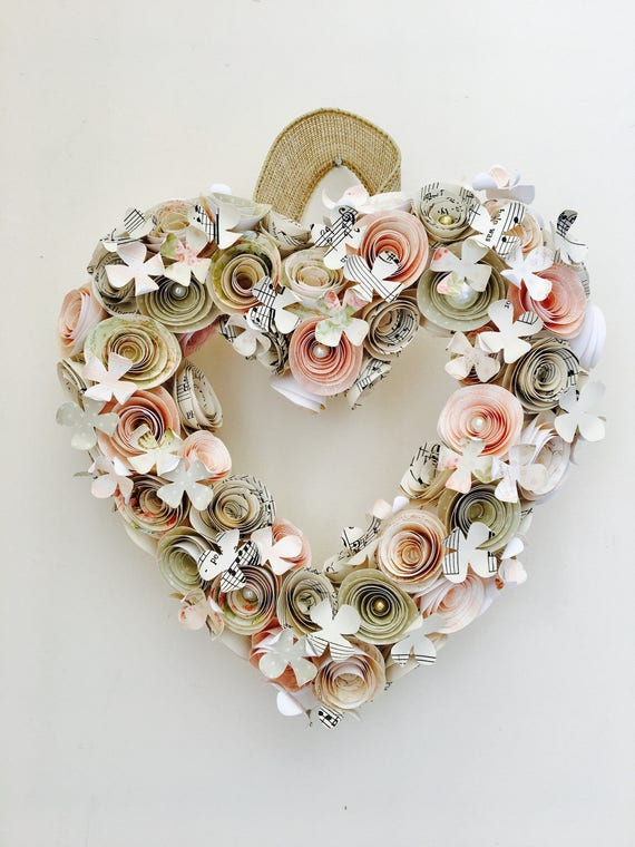 Mothers Day Love Heart Paper Flower Wreath First Etsy
