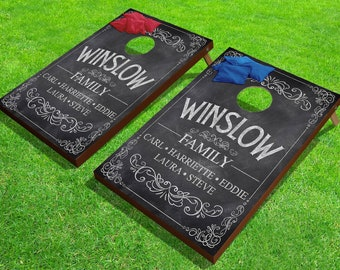 """Personalized Family Corn Hole Game - Outdoor - Bean Bag Toss - 24"""" x 36"""""""