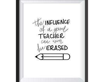 Teacher's Influence Can Never Be Erased Print