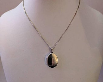 ON SALE Vintage Sterling Silver Necklace with Silver Locket