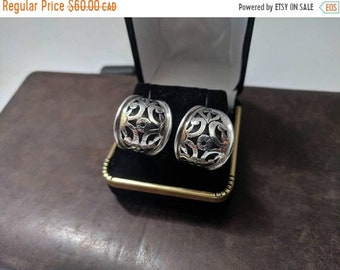 ON SALE Vintage Sterling Silver Earrings