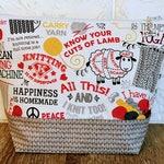 Sheep Knitting Project Bag, Knitting Quotes Project Bag, Knitting Bag, Knitting Project Bag Zipper, Yarn Bowl, Sock bag, Crochet Project Bag