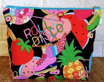 Roller Disco Knitting Project Bag - Medium / Shawl size
