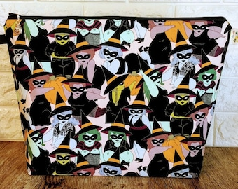 Halloween Witches - Large / Sweater Size Project Bag