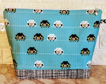 Knitting Sheep Project Bag - Large / Sweater Size