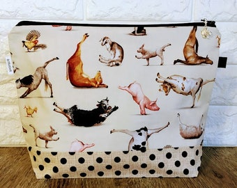 Fun medium size Yoga Animals Project Bag