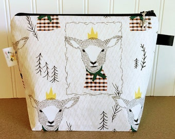 Sheep Knitting Project Bag - Small / Sock Size
