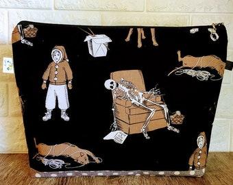 Knitting Bag featuring Knitting Skeleton