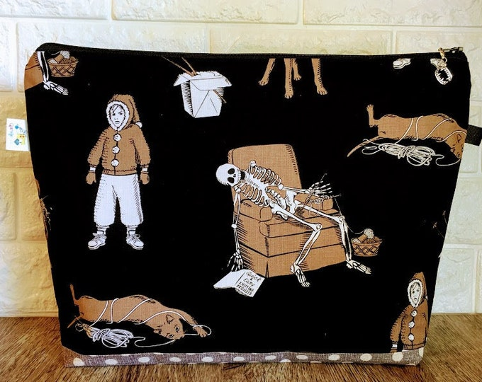 Featured listing image: Knitting Bag featuring Knitting Skeleton