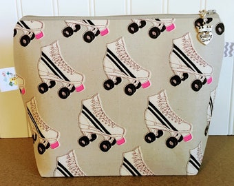 Roller skates Knitting Project Bag - Small / Sock Size