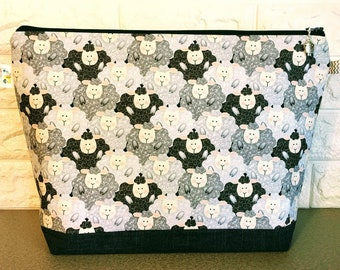 Sheep Knitting Project Bag - Large / Sweater Size