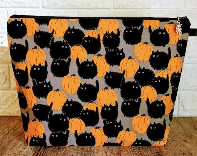 Featured listing image: Halloween Cats - Large / Sweater Size Project Bag