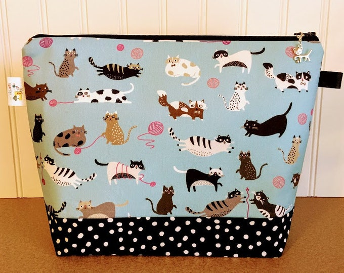Featured listing image: Cat Knitting Project Bag