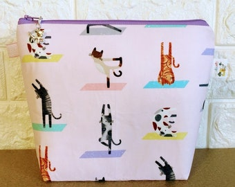 Cat Yoga Project Bag - Small / Sock Size