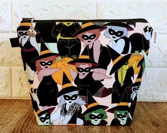 Fluffy Witches Knitting Project Bag - Small / Sock Size