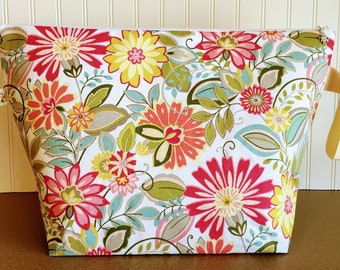 Spring Flowers Extra Large Project Bag -   Sweater / Blanket Size