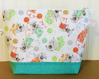 Granny Sheep Knitting Project Bag - Medium / Shawl Size