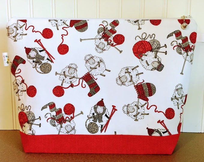 Featured listing image: Knitting Bag featuring granny sheep knitting