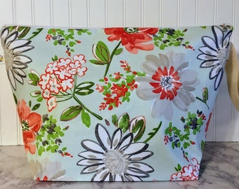 Floral Knitting Project Bag - Extra Large - Blanket / Sweater Size