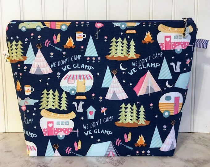 Featured listing image: Camper Knitting Project Bag - Large / Sweater Size
